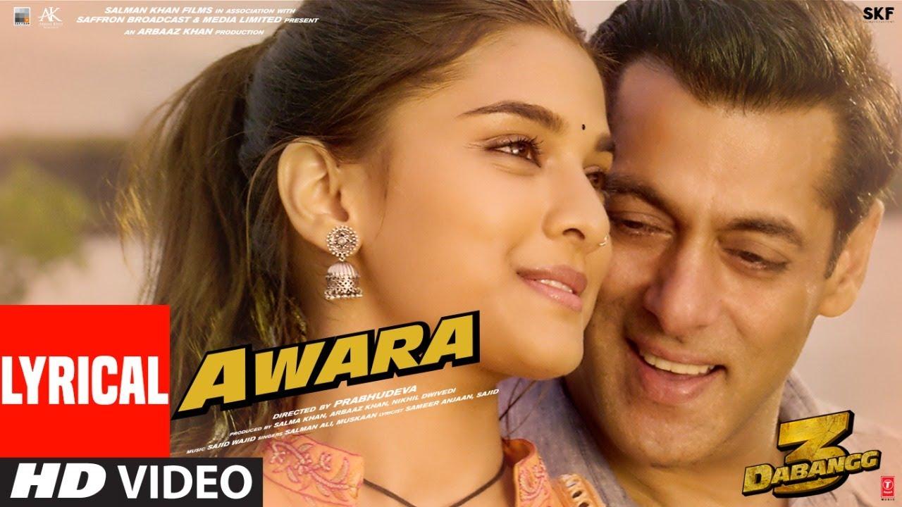 Awara Song Lyrics Image