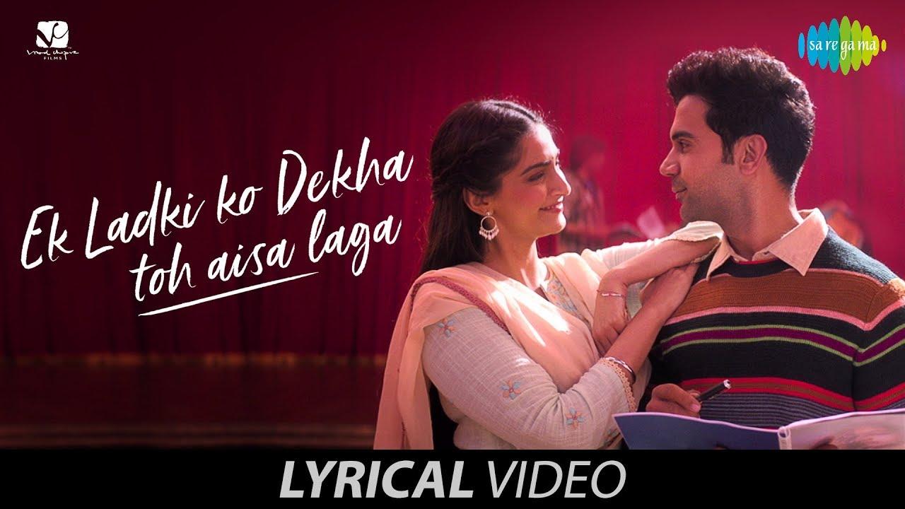Ek Ladki Ko Dekha Toh Aisa Laga Song Lyrics Image