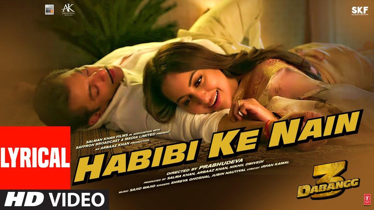 Habibi Ke Nain Song Lyrics Image