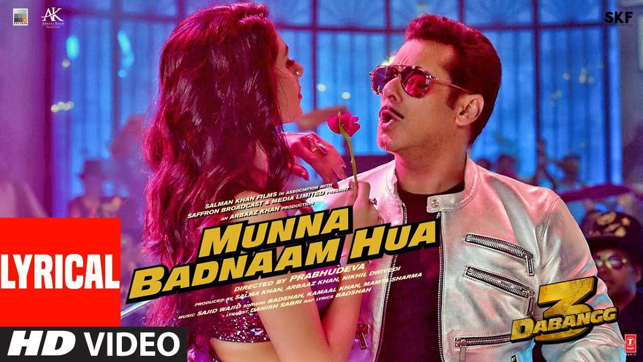 Munna Badnaam Hua Song Lyrics Image