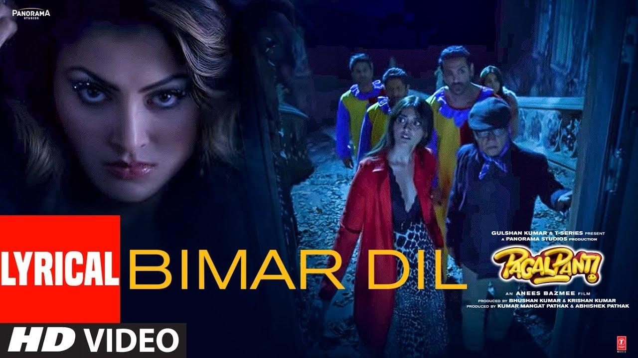 Bimar Dil Song Lyrics Image