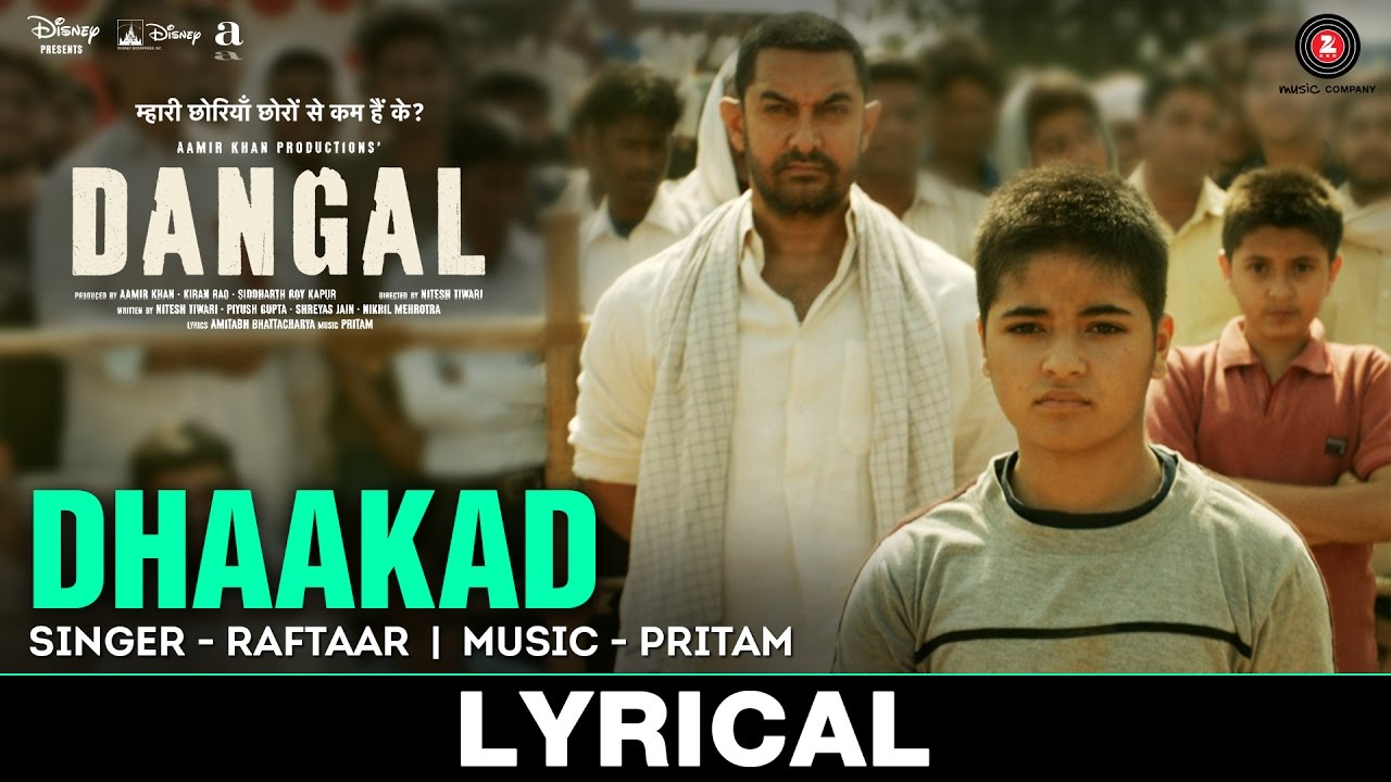 Dhaakad Song Lyrics Image