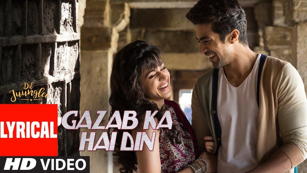Gazab Ka Hai Din Song Lyrics Image