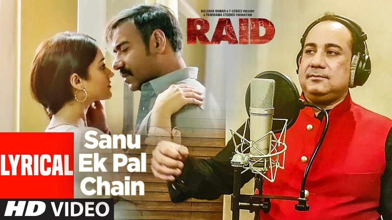 Sanu Ek Pal Chain Song Lyrics Image