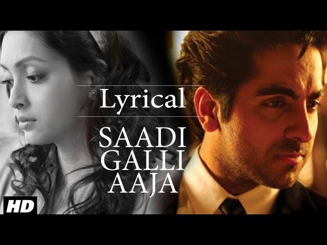 Saadi Galli Aaja Song Lyrics Image