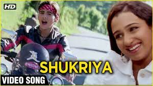 Tera Shukriya Song Lyrics