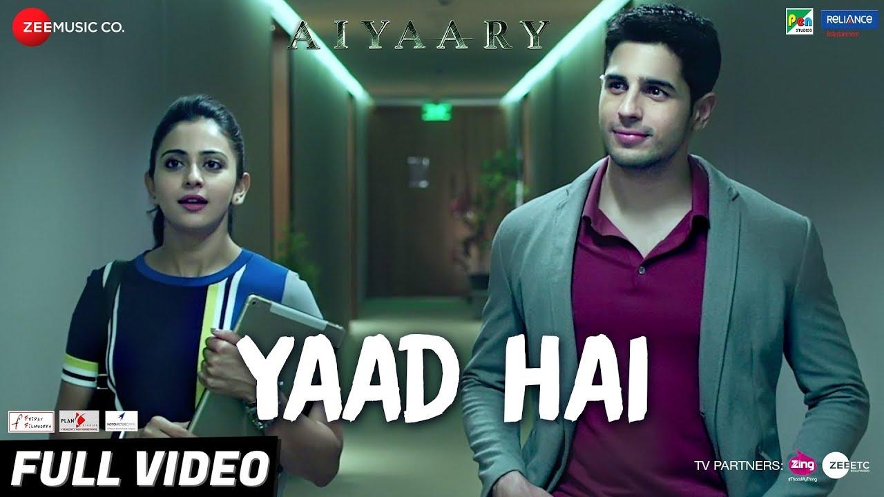 Yaad Hai Song Lyrics